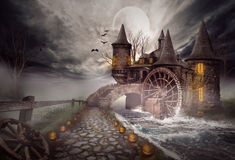The illustration on a Halloween theme Royalty Free Stock Photos