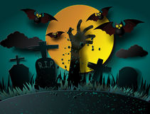 Illustration of Halloween Zombie Party. Stock Images
