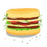 Hamburger Drawing Stock Photos