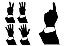 Illustration of hand counting, pointing Stock Images