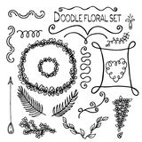 Illustration of Hand-Drawn Doodles and Design Elements. Royalty Free Stock Photo
