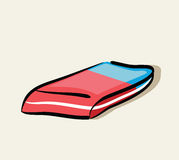 Illustration of hand drawn eraser Royalty Free Stock Photography