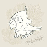 Illustration hand drawn vector retro cartoon bird Stock Image