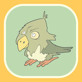 Illustration hand drawn vector retro cartoon bird Royalty Free Stock Images