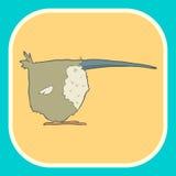 Illustration hand drawn vector retro cartoon bird Royalty Free Stock Photography