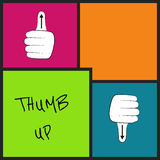 Illustration with hand gestures in colored blocks Stock Photo