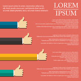 Illustration of hand infographic in flat design on background Stock Photography