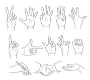 Illustration of hand Stock Images
