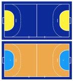 Illustration of handball court Stock Photos