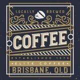 Illustration Handcrafted de vecteur de label de café Calibre de conception de label de café illustration de vecteur