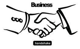 Illustration of handshake Royalty Free Stock Image