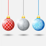 Illustration hanging Christmas multicolor balls Royalty Free Stock Image