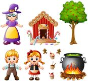 Hansel and Gretel collections. Illustration of Hansel and Gretel collections Royalty Free Stock Images