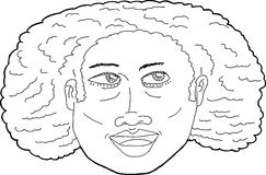 Illustration of Happy African Lady Stock Image