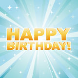 Illustration for happy birthday card Royalty Free Stock Photos