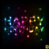Illustration for happy birthday card Royalty Free Stock Photography