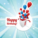 Illustration for happy birthday card Stock Photography