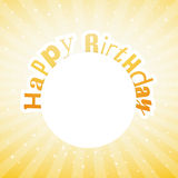 Illustration for happy birthday card Stock Photos