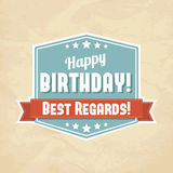 Illustration for happy birthday card royalty free illustration