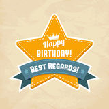 Illustration for happy birthday card Royalty Free Stock Image