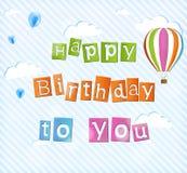 Illustration for happy birthday card Stock Image