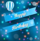 Illustration for happy birthday card Royalty Free Stock Photos