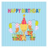 Illustration of happy birthday Stock Images