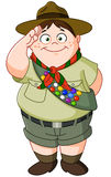 Boy scout. Illustration of a happy Boy Scout saluting Stock Photography