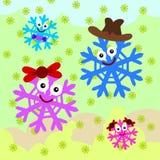Snowflake family Royalty Free Stock Photo