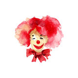 Illustration of Happy clown. Watercolor illustration of Happy clown Stock Photography