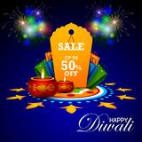 Illustration of Happy Diwali shopping sale offer. Easy to edit vector illustration of Happy Diwali shopping sale offer