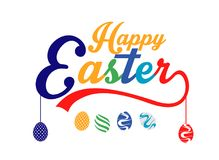 Happy Easter colorful lettering. Illustration of Happy Easter colorful lettering Royalty Free Stock Images