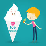 Illustration of Happy and Excited Kids Carrying Cones Filled wit Royalty Free Stock Image