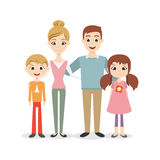 Illustration of Happy family characters Royalty Free Stock Images