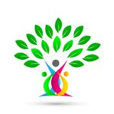 Happy family tree with colorful design on white background. Illustration happy family tree with colorful design on white background stock illustration