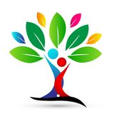 Happy family tree with colorful design on white background vector illustration