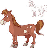 Illustration of happy farm horse Stock Images