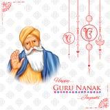 Happy Gurpurab, Guru Nanak Jayanti festival of Sikh celebration background royalty free illustration
