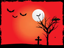 Illustration for happy halloween celebration. Vector illustration of happy halloween background, illustration Vector Illustration