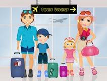 Happy holidays family. Illustration of happy holidays family Stock Photo