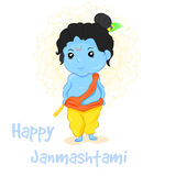 Illustration Happy Janmashtami. Stock Photography
