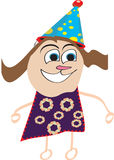 Illustration of a happy kid with a birthday hat/cap Royalty Free Stock Image