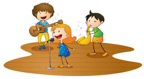 Kids playing music Royalty Free Stock Images