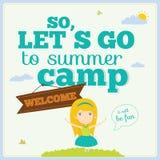 Illustration of happy kids on summer background Royalty Free Stock Image