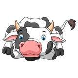 Happy little cow cartoon stock illustration
