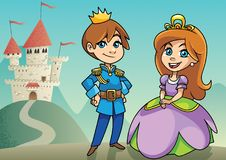 Prince and Princess Stock Photo