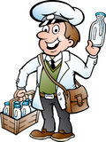 Illustration of an Happy Milkman Royalty Free Stock Photos