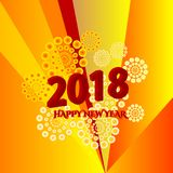 Happy New Year. The Illustration of Happy New Year with colorful Stock Photo