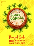 Happy Pongal Holiday Harvest Festival of Tamil Nadu South India Sale and Advertisement background stock illustration