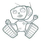 Illustration with a happy robot. Stock Image